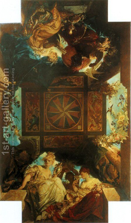 Die Vier Weltteile (The Four Corners of the World) by Hans Makart - Reproduction Oil Painting