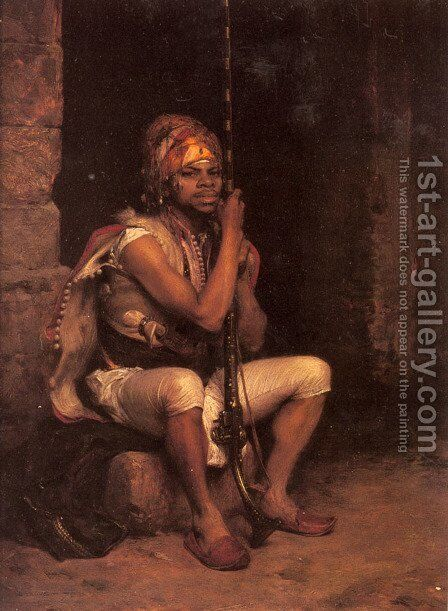The Sentinel by Charles Bargue - Reproduction Oil Painting
