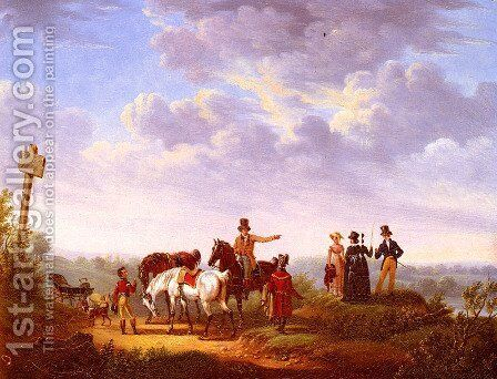 A Meeting at the Crossroads by Bernard Edouard Swebach - Reproduction Oil Painting