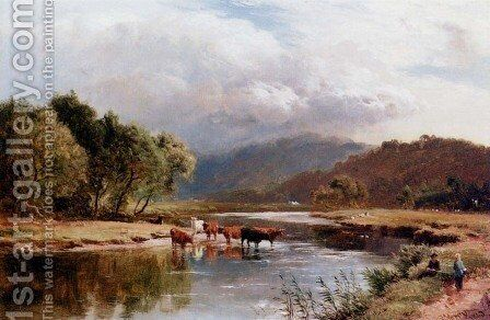 The Ponway, Trefew, North Wales by Sidney Richard Percy - Reproduction Oil Painting