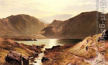 Easdale Tarn, Westmoreland by Sidney Richard Percy - Reproduction Oil Painting