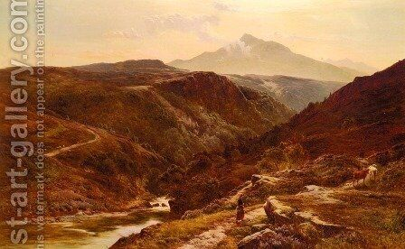 Moel Siabab, North Wales by Sidney Richard Percy - Reproduction Oil Painting