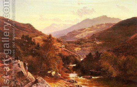 Glen Falock, Dunbartonshire by Sidney Richard Percy - Reproduction Oil Painting