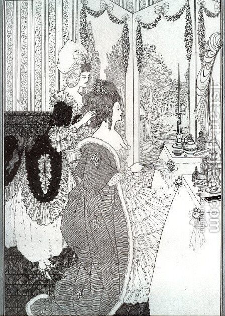 The Toilet by Aubrey Vincent Beardsley - Reproduction Oil Painting