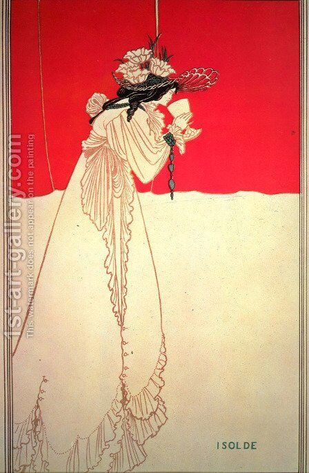 Isolde 1895 by Aubrey Vincent Beardsley - Reproduction Oil Painting