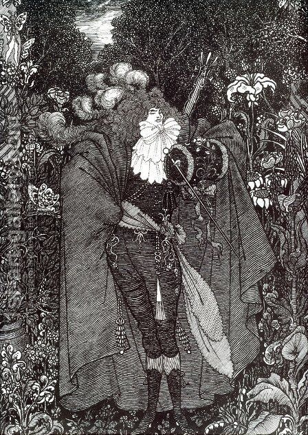 A Nightpiece by Aubrey Vincent Beardsley - Reproduction Oil Painting