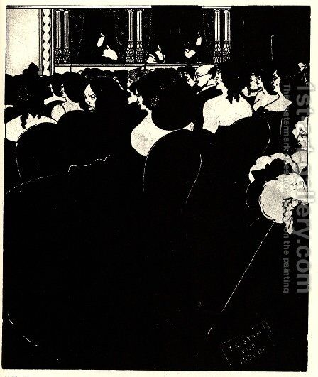 The Wagnerites by Aubrey Vincent Beardsley - Reproduction Oil Painting