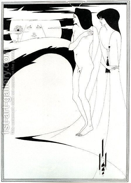 The Woman in the Moon by Aubrey Vincent Beardsley - Reproduction Oil Painting
