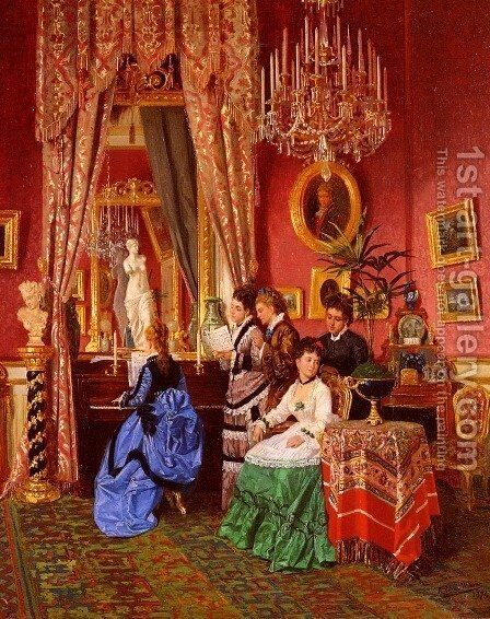 The Musical Party by Antonio Garcia Y Mencia - Reproduction Oil Painting