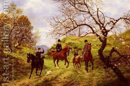 Partie De Campagne (Outing in the country) by Jean Richard Goubie - Reproduction Oil Painting