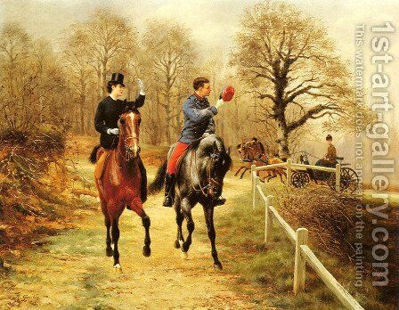 An Afternoon Ride by Jean Richard Goubie - Reproduction Oil Painting