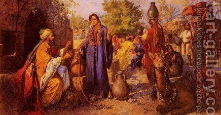 At The Well by Johann Victor Kramer - Reproduction Oil Painting