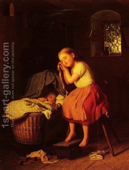 Mittagsruhe (Siesta) by Meyer Georg von Bremen - Reproduction Oil Painting
