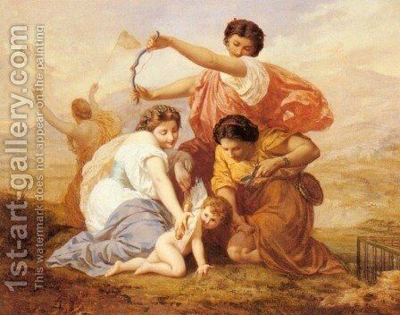 Clipping Cupid's Wings by Henri Pierre Picou - Reproduction Oil Painting