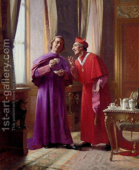 Afternoon Refreshment by Henri Adolphe Laissement - Reproduction Oil Painting
