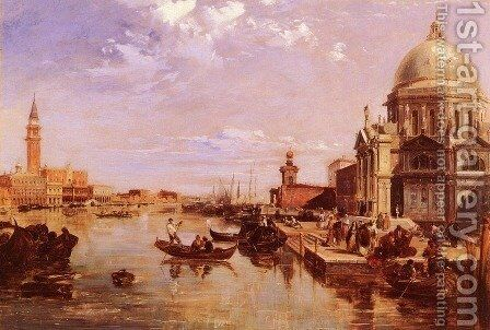 A View of the San Giorgio Church and the Grand Canal by Edward Pritchett - Reproduction Oil Painting