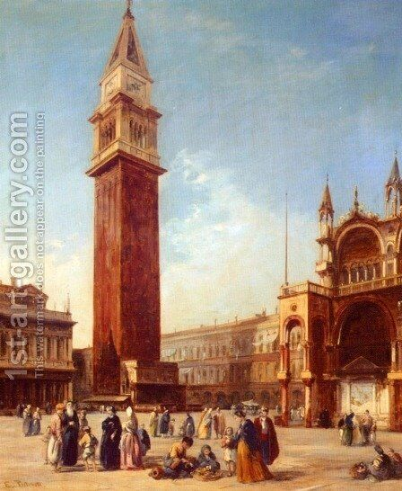 The Campanile, St. Marks Square by Edward Pritchett - Reproduction Oil Painting