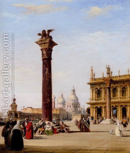 The Piazetta, St. Mark's, Venice by Edward Pritchett - Reproduction Oil Painting
