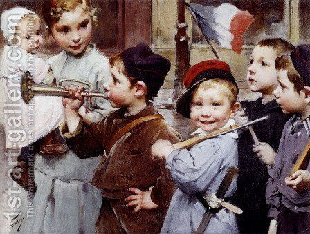 July 14th - Bastille Day by Henri-Jules-Jean Geoffroy (Geo) - Reproduction Oil Painting