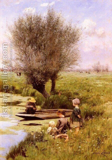 Afternoon Along The River by Emile Claus - Reproduction Oil Painting