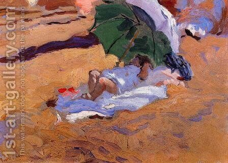 Child's Siesta by Joaquin Sorolla y Bastida - Reproduction Oil Painting