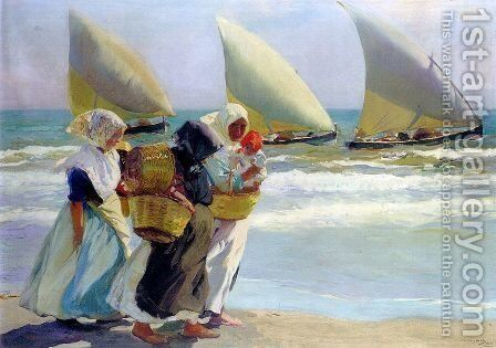 Three Sails by Joaquin Sorolla y Bastida - Reproduction Oil Painting