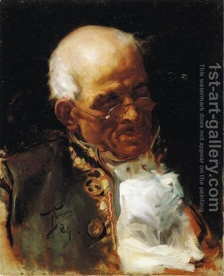 Portrait of a Caballero by Joaquin Sorolla y Bastida - Reproduction Oil Painting