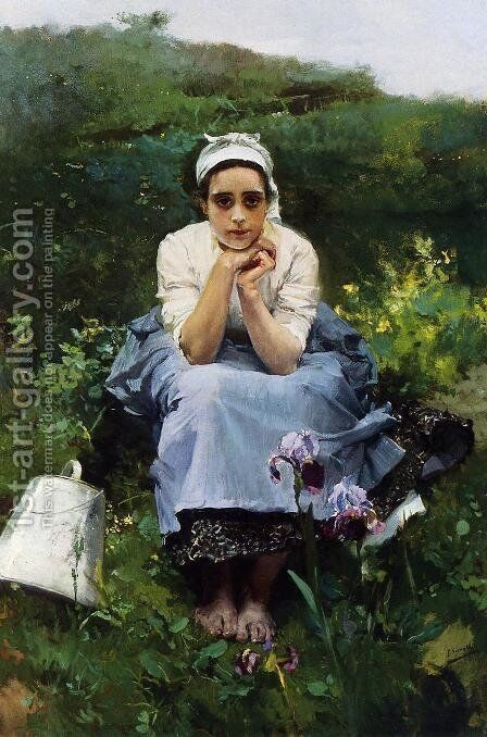 The Milkmaid by Joaquin Sorolla y Bastida - Reproduction Oil Painting