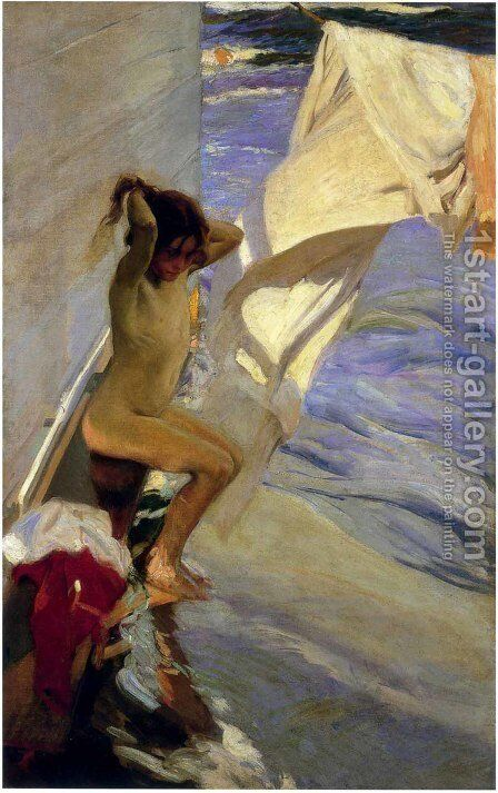 Antes del bano (Before Bathing) by Joaquin Sorolla y Bastida - Reproduction Oil Painting