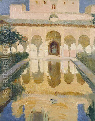 Hall of the Ambassadors, Alhambra, Granada by Joaquin Sorolla y Bastida - Reproduction Oil Painting