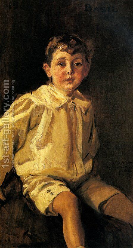 A Portrait of Basil Mundy by Joaquin Sorolla y Bastida - Reproduction Oil Painting