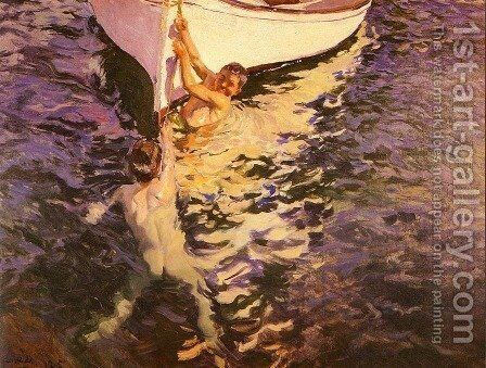 El bote blanco (The White Boat) by Joaquin Sorolla y Bastida - Reproduction Oil Painting