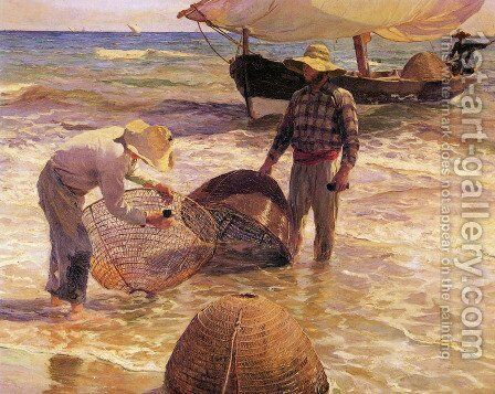 Pescadores valencianos (Valencian Fisherman) by Joaquin Sorolla y Bastida - Reproduction Oil Painting