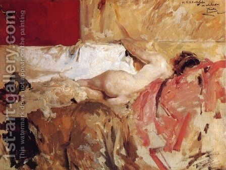 Bacante by Joaquin Sorolla y Bastida - Reproduction Oil Painting