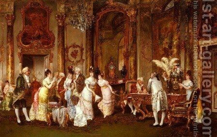 The Jewellery Viewing by Clément Pujol de Guastavino - Reproduction Oil Painting