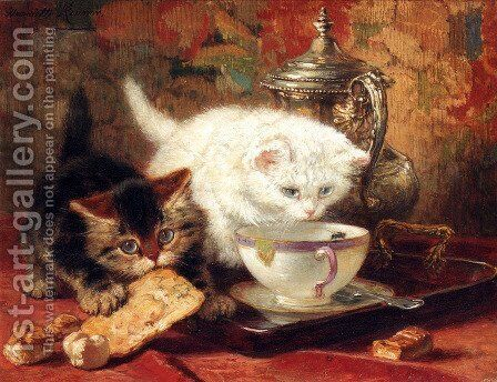 High Tea by Henriette Ronner-Knip - Reproduction Oil Painting