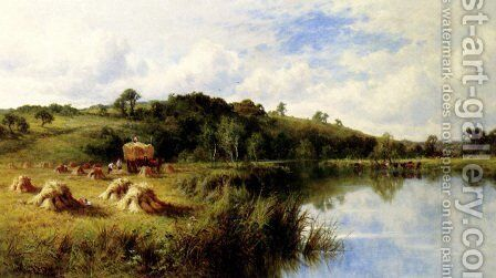 The Thames At Streatley, Oxfordshire by Henry Hillier Parker - Reproduction Oil Painting