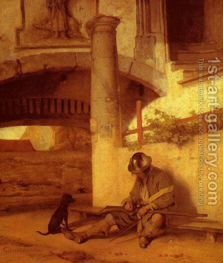 The Sentry by Carel Fabritius - Reproduction Oil Painting