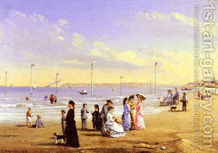 At The Seaside by Conrad Wise Chapman - Reproduction Oil Painting