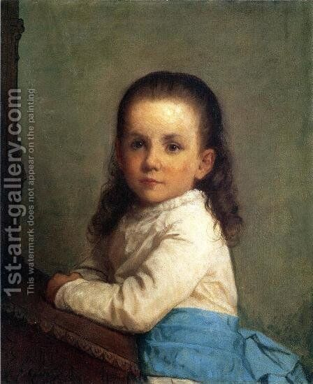 Portrait of Vinnie Packard by Eastman Johnson - Reproduction Oil Painting