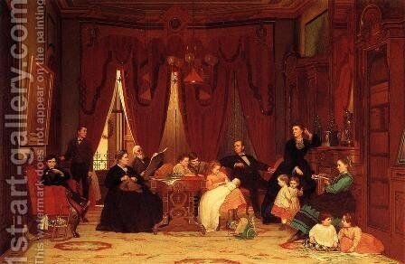 The Hatch Family by Eastman Johnson - Reproduction Oil Painting