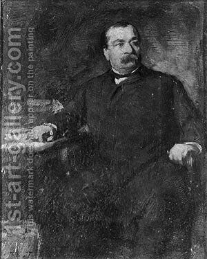 Grover Cleveland by Eastman Johnson - Reproduction Oil Painting
