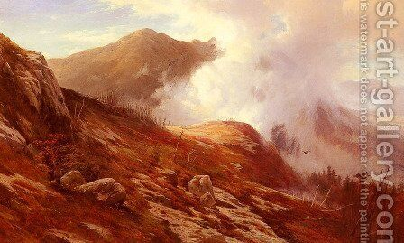 Half-Way Up Mt. Washington by Edward Moran - Reproduction Oil Painting