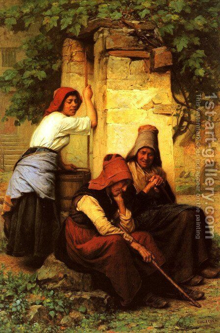 At The Well by Jacques-Eugene Feyen - Reproduction Oil Painting