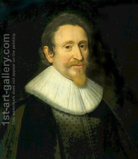 Portrait of Hugo de Groot by Michiel Jansz. van Miereveld - Reproduction Oil Painting