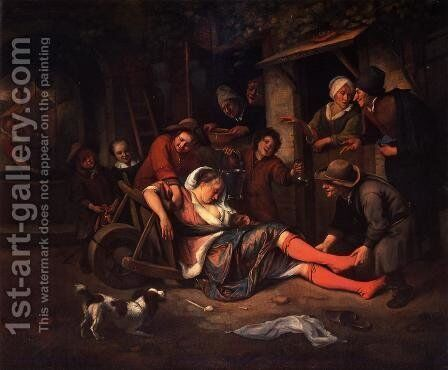Wine is a Mocker by Jan Steen - Reproduction Oil Painting