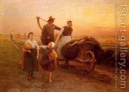 Return From The Fields by Hugo Federick Salmson - Reproduction Oil Painting