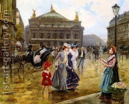 L'opera, Paris by Joaquin Pallares y Allustante - Reproduction Oil Painting