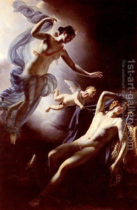 Diane Et Endymion (Diane and Endymion) by Jerome Martin Langlois - Reproduction Oil Painting