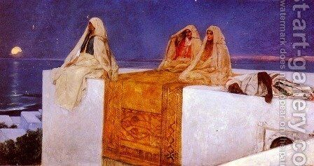 Arabian Nights by Benjamin Jean Joseph Constant - Reproduction Oil Painting